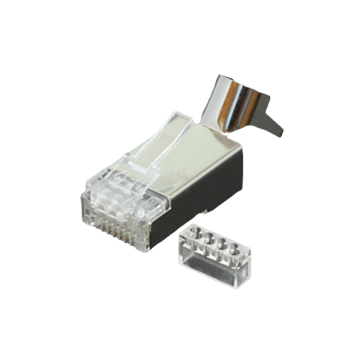 CAT6 shielded RJ45 plug 23-26AWG, 2 piece
